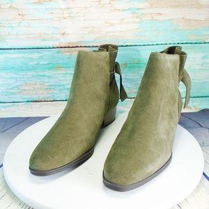 Aerosoles Crosswalk Green Suede Ankle Boots